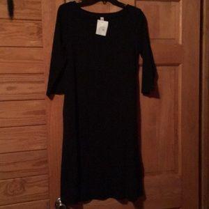 Zenna tunic dress black NWT